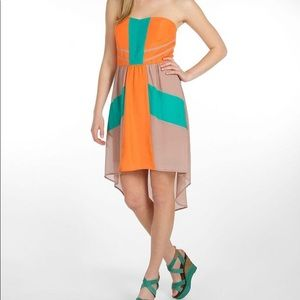 Flying Tomato Strapless High-Low Dress